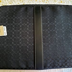 Coach Black Voyager Signature Computer Sleeve